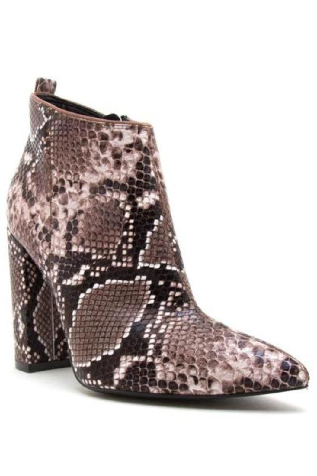 Qupid Signal Reptile Booties - Front Full Image