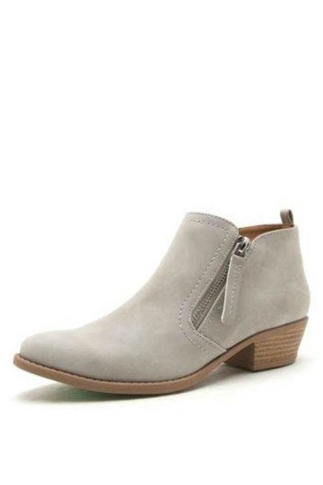 Qupid Slip On Bootie - Front Cropped Image
