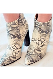 Qupid Snakeskin Heeled Bootie - Product Mini Image
