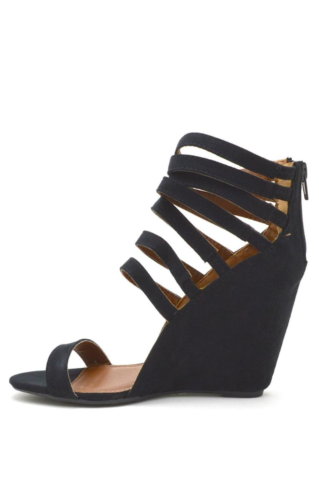 Qupid Strappy Open-Toe Wedge - Main Image