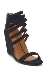 Qupid Strappy Open-Toe Wedge - Front full body