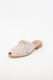 Qupid Strappy Woven Slide - Front cropped