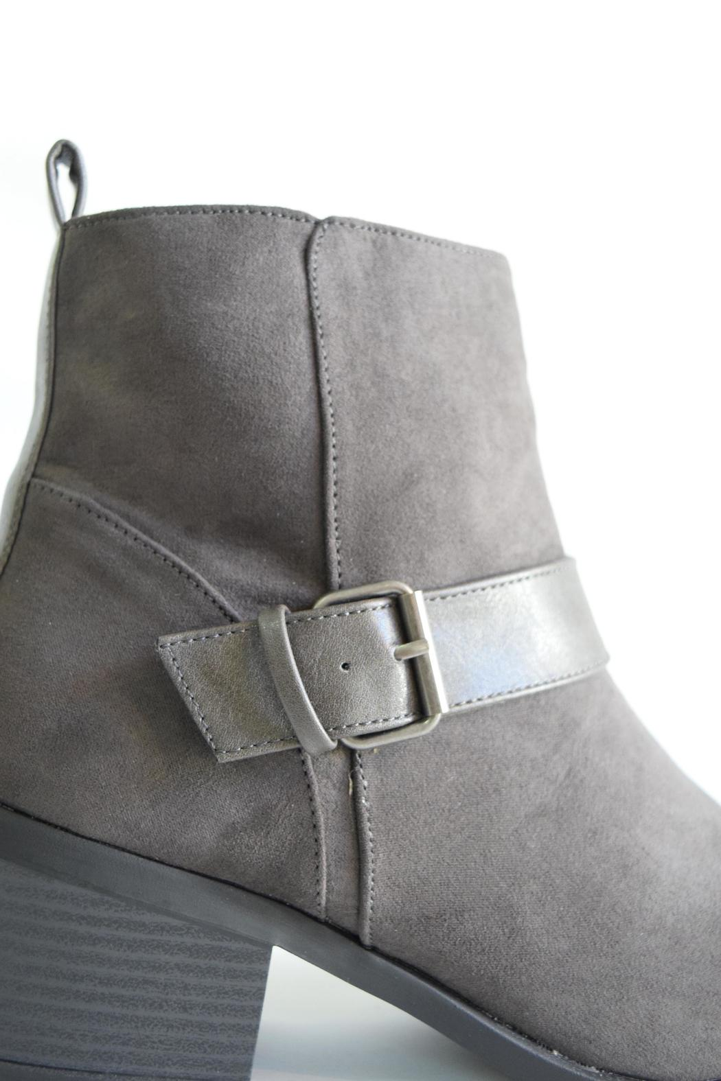Qupid Suede Moto Boot - Back Cropped Image