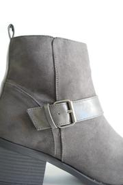 Qupid Suede Moto Boot - Back cropped