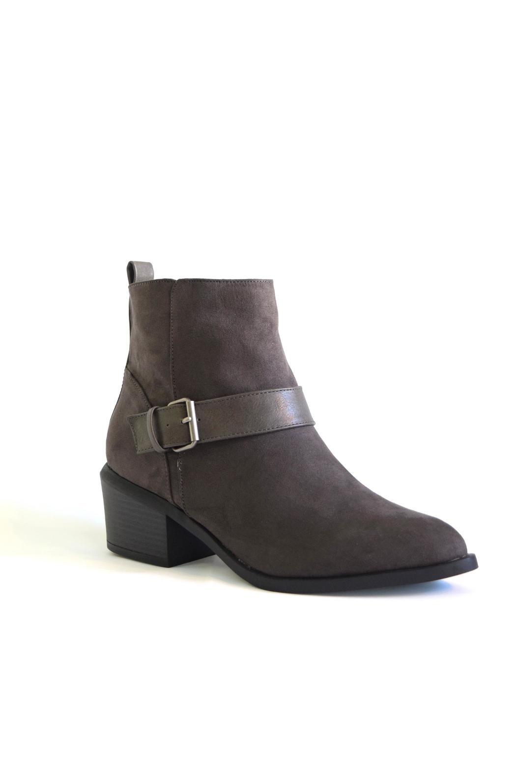 Qupid Suede Moto Boot - Front Full Image