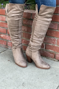 Qupid Taupe Heeled Boots - Product List Image