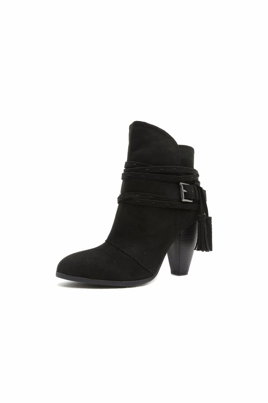 Qupid Twisted Strap Booties - Main Image
