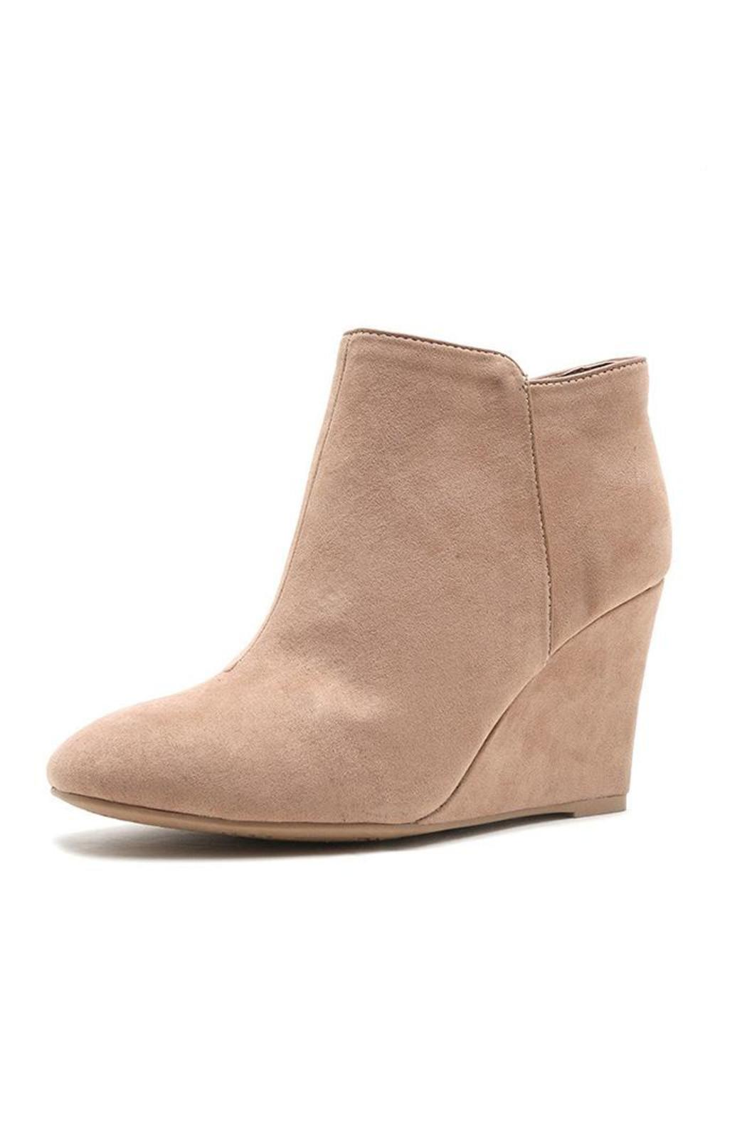 Qupid Vermont Wedge Boots - Main Image