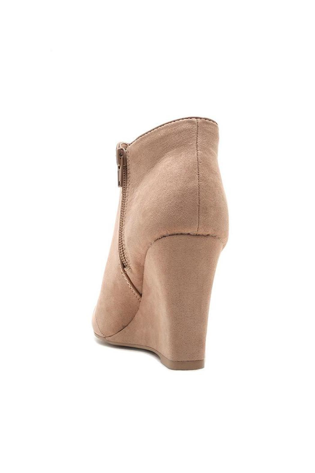 Qupid Vermont Wedge Boots - Front Full Image