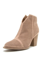 Qupid Perforated Bootie - Product Mini Image