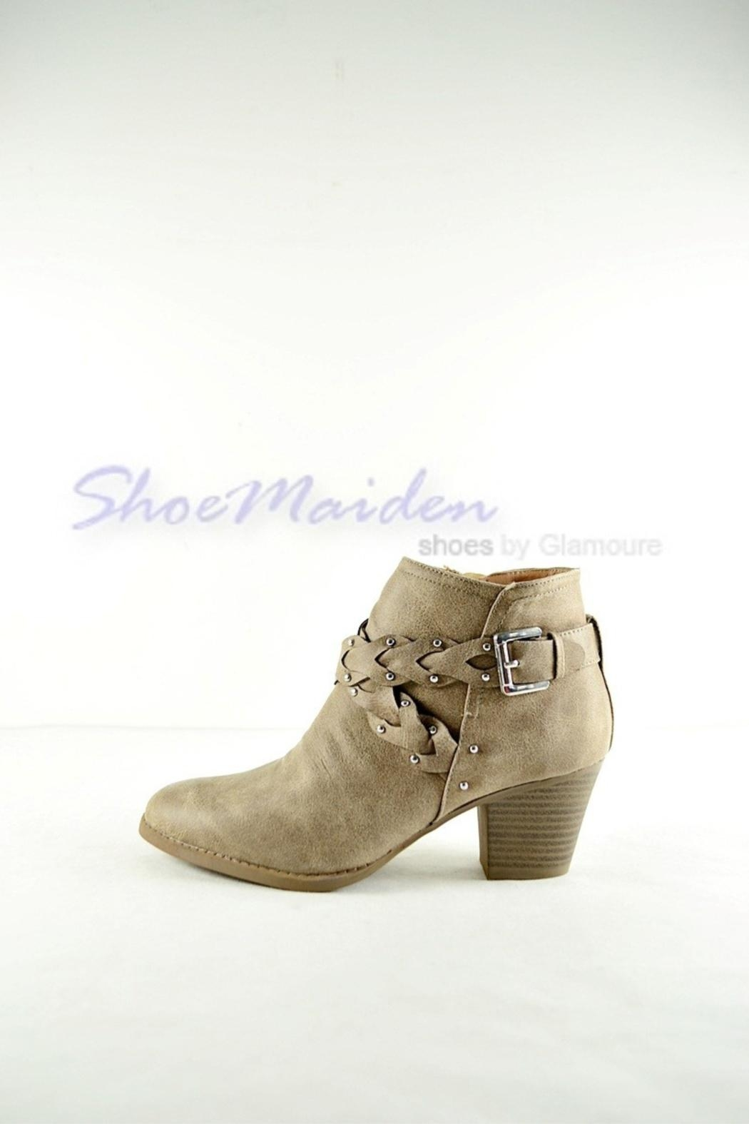 Qupid Western Braided Booties - Side Cropped Image