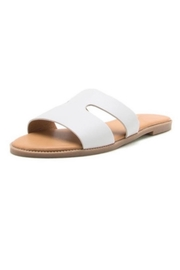 Qupid White Flat Slides - Product Mini Image