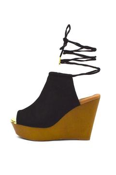 Qupid Wooden Mule Wedge - Product List Image