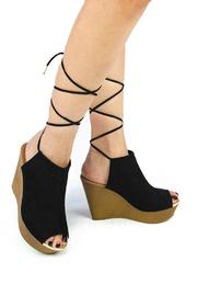 Qupid Wooden Mule Wedge - Other