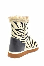 Qupid Zebra Ankle Boot - Back cropped