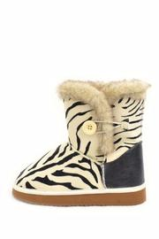 Qupid Zebra Ankle Boot - Front cropped