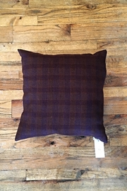 Ró   Maroon Flannel Pillow - Product Mini Image