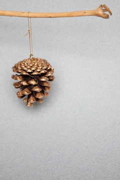 Ró   Shimmering Pinecone Ornament - Product List Image