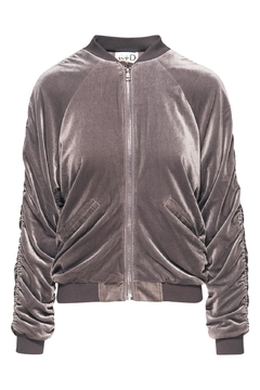 R+D Hipster Emporium  Velour Ruched Bomber - Product List Image