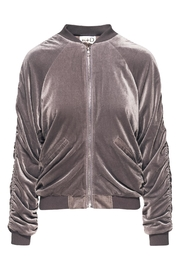 R+D Hipster Emporium  Velour Ruched Bomber - Product Mini Image