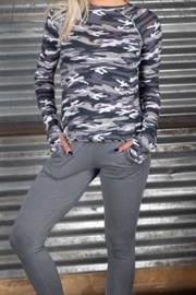 R+R Surplus Long- Sleeve Grey-Camo Shirt - Front cropped