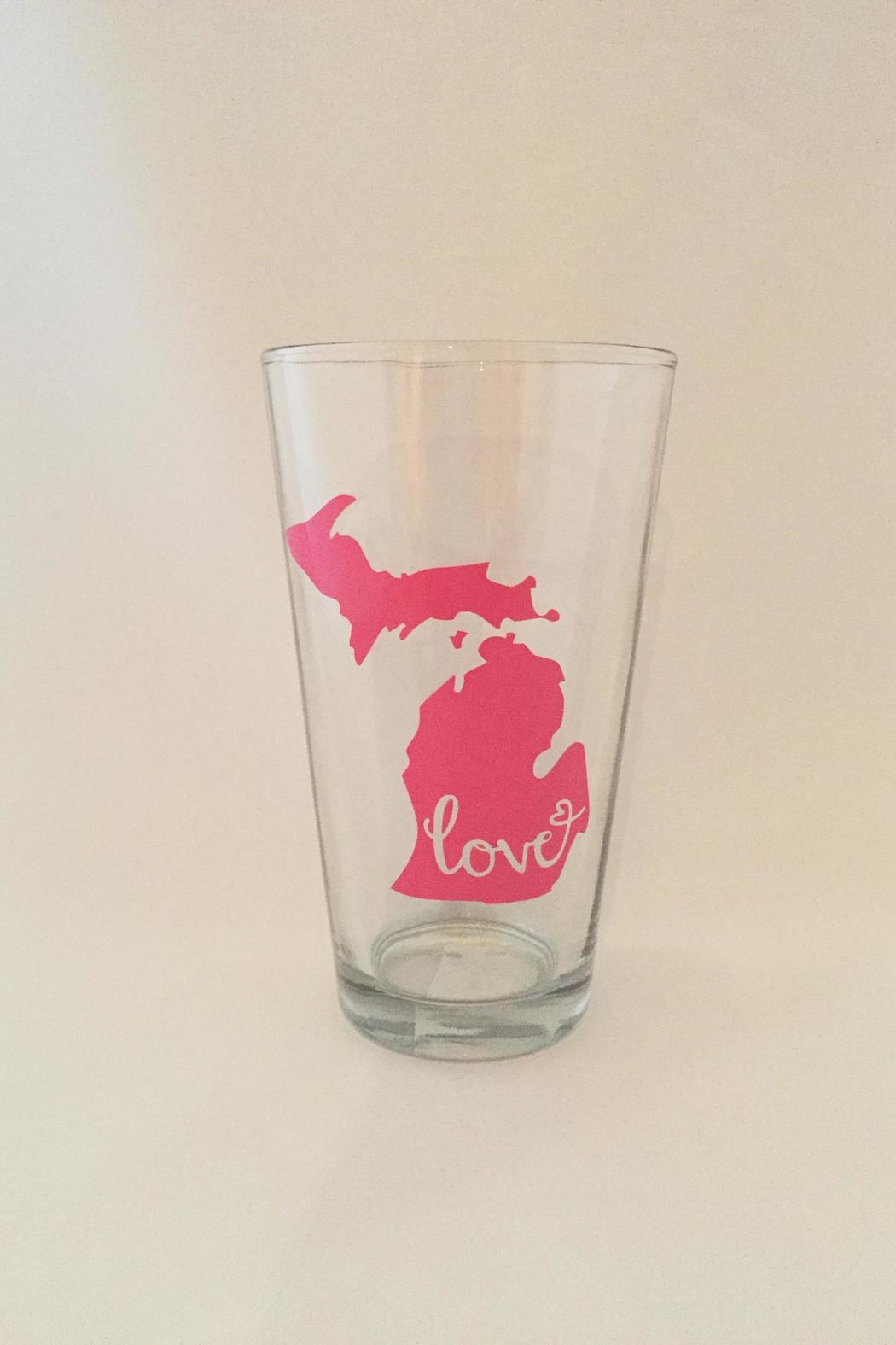 R.S.V.P. Michigan Love Glass - Front Cropped Image