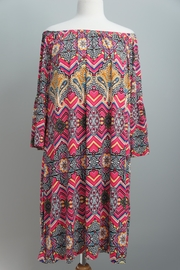 R Rouge Paisley-Print Off-The-Shoulder Tunic - Product Mini Image