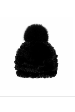 Mitchies Matching Rabbit Beanie w/ Fox Pom - Alternate List Image