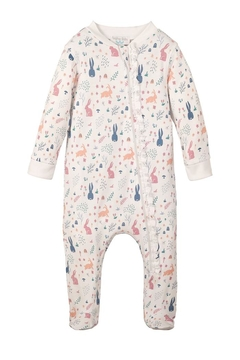 Feather Baby Rabbit Zipper Footie - Product List Image