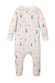 Feather Baby Rabbit Zipper Footie - Front cropped
