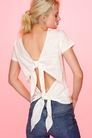 Line & Dot Rabi Tied Top - Front cropped