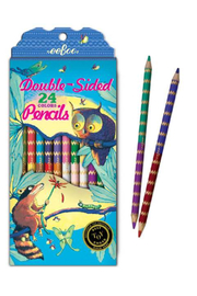 Eeboo Raccoon and Owl Double-Sided Colored Pencils - Product Mini Image