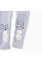 Tea Collection Raccoon Cozy Leggings - Front full body