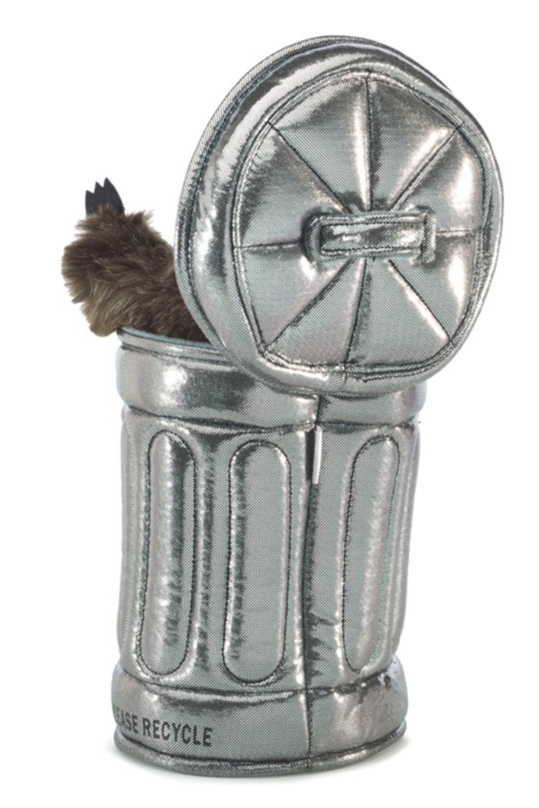 Folkmanis Raccoon In Garbage Can Puppet - Front Full Image