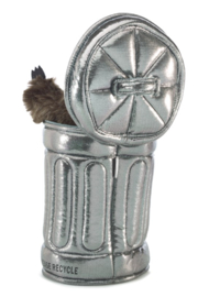Folkmanis Raccoon In Garbage Can Puppet - Front full body