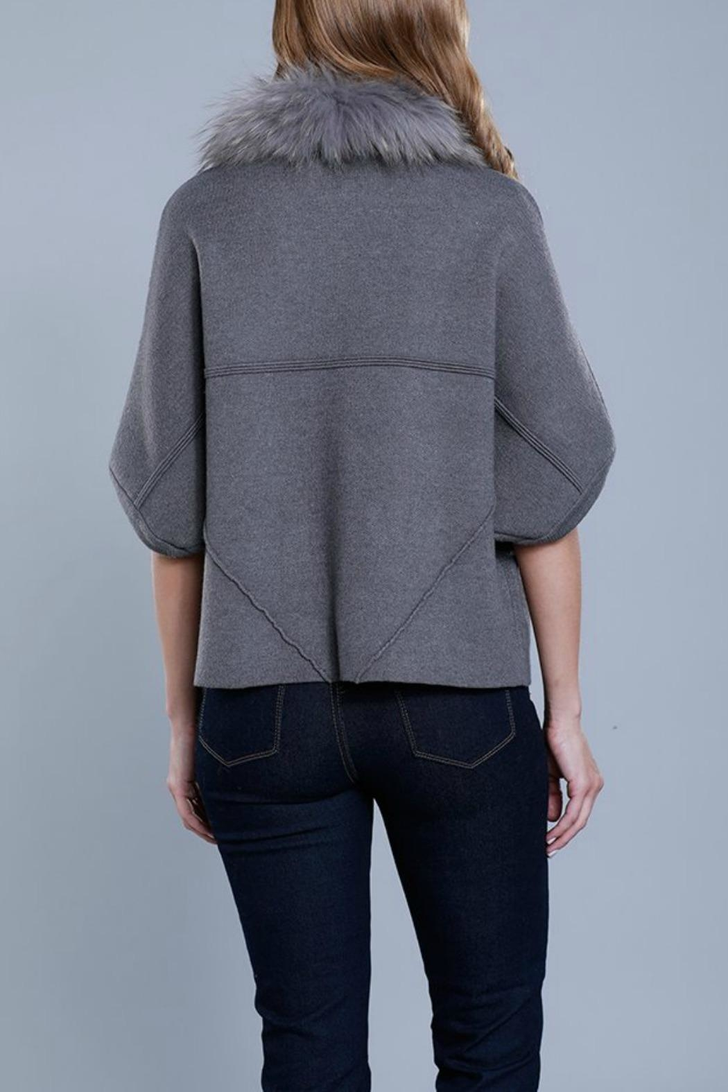 Dolce Cabo Raccoon Structured Cardigan - Front Full Image