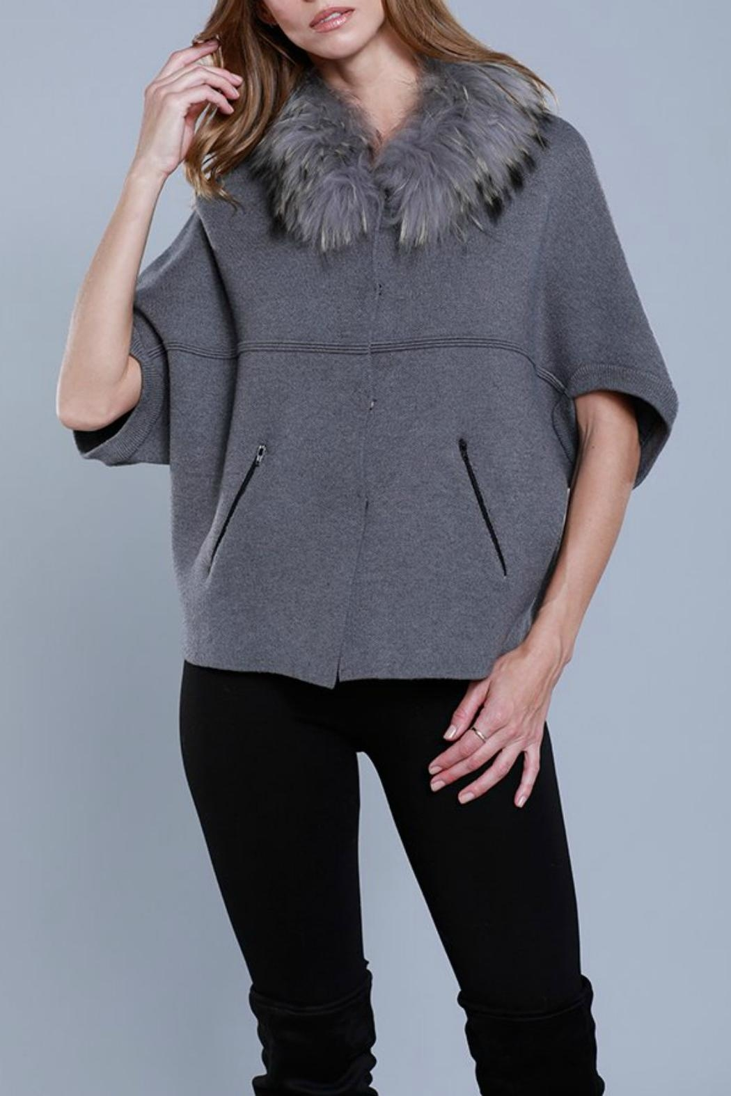 Dolce Cabo Raccoon Structured Cardigan - Main Image