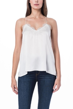 Cami NYC Racer Charmeuse White - Product List Image