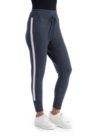 Bobeau Racer Stripe Cozy Jogger - Front cropped