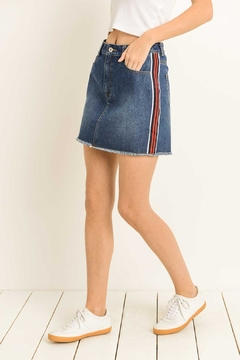 lelis Racer-Stripe Denim Skirt - Product List Image