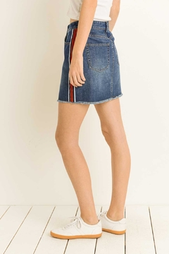 lelis Racer-Stripe Denim Skirt - Alternate List Image