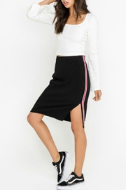 Lush Racer Stripe Skirt - Product Mini Image