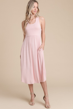 vanilla bay Racerback Dress with Crochet Back Detail - Product List Image