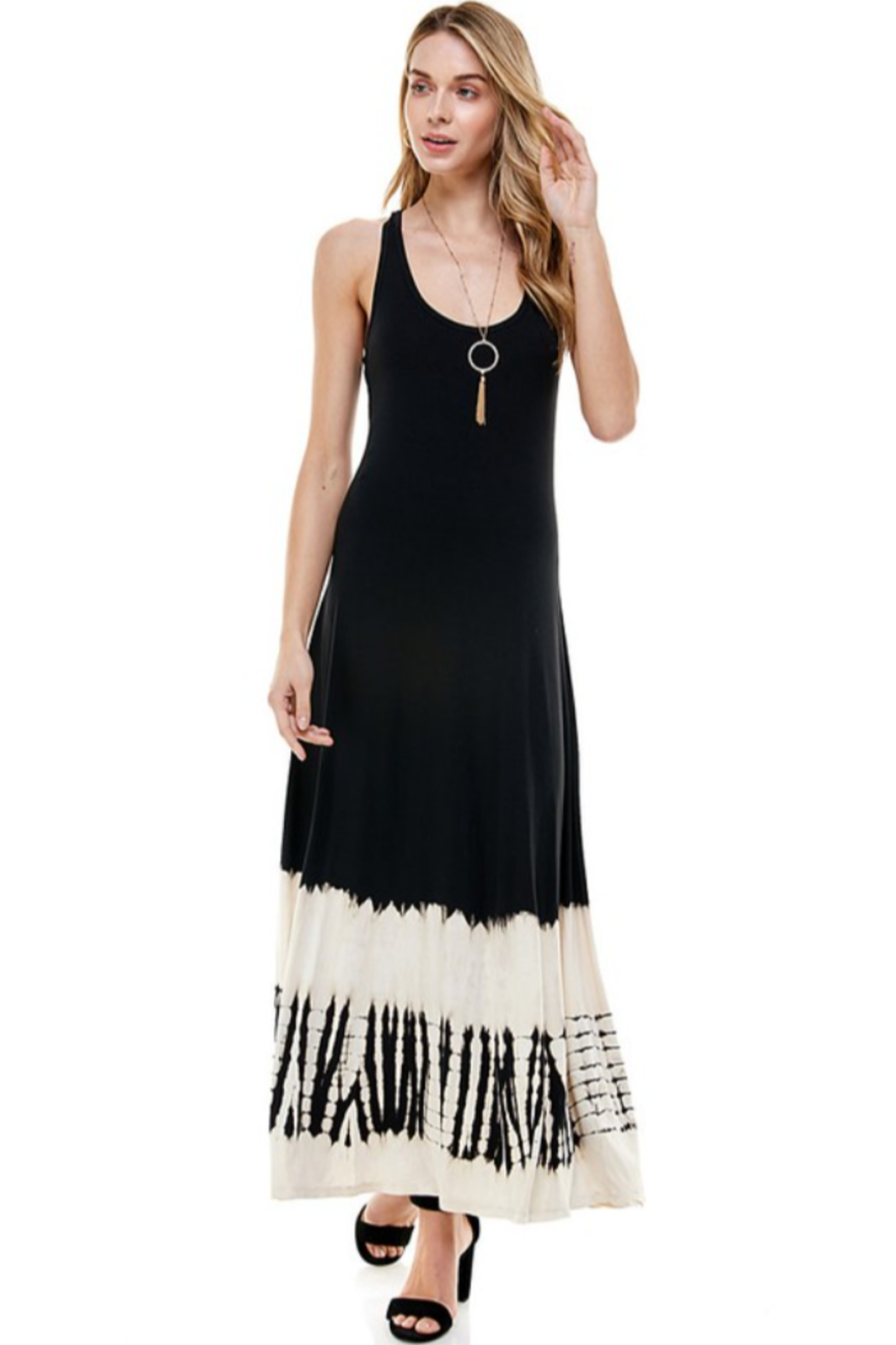 T-Party  Racerback Knit Maxi Dress - Front Full Image