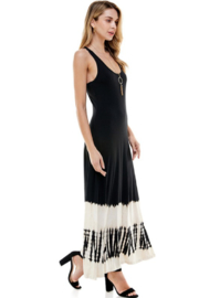T-Party  Racerback Knit Maxi Dress - Front cropped