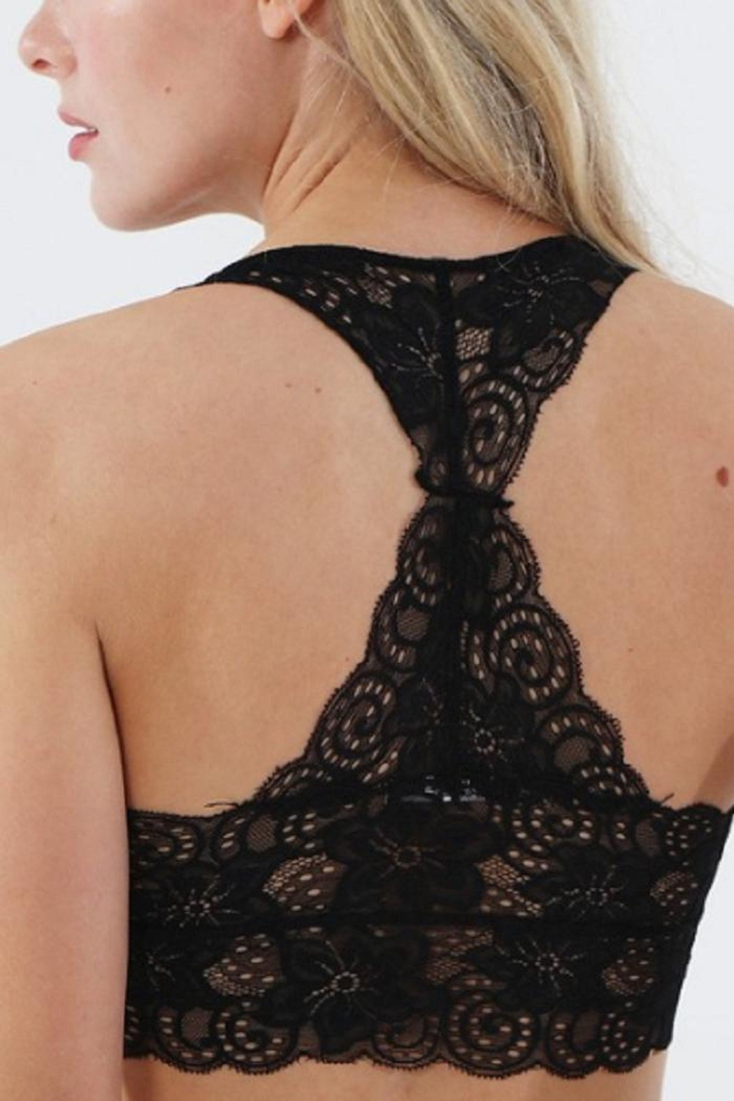 Wanna B Racerback Lace Bralette - Front Full Image