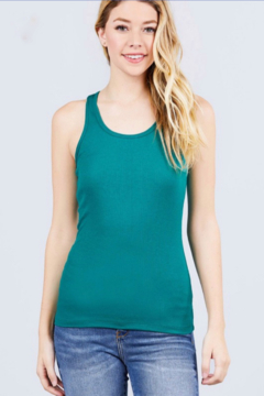 Active Basic racerback ribbed tank top - Product List Image