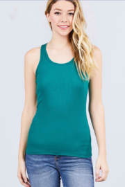 Active Basic racerback ribbed tank top - Product Mini Image