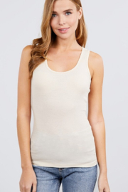 Active Basic racerback ribbed tank top - Front cropped