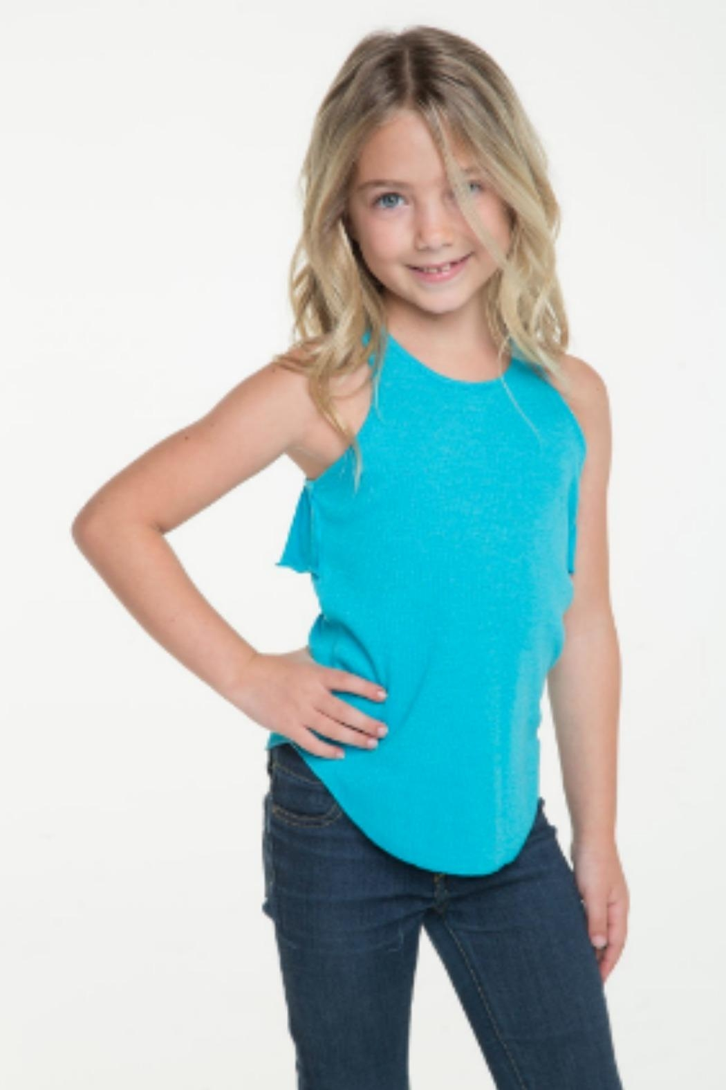 Chaser Racerback Ruffle Tank - Front Full Image